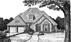 European House Plan 98533 with 4 Beds, 4 Baths, 2 Car Garage Elevation