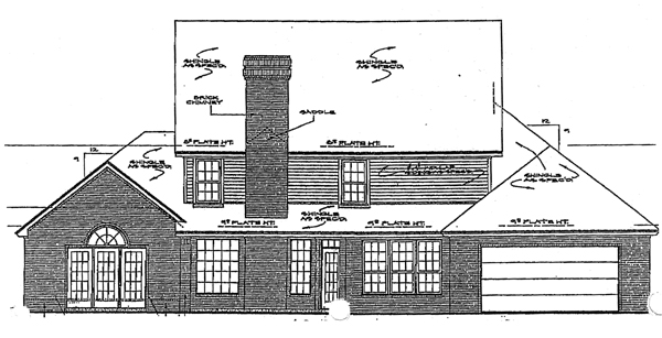 Colonial House Plan 98534 Rear Elevation