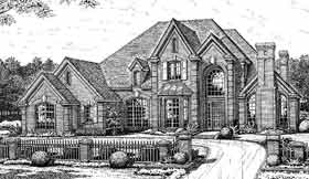 French Country , Tudor House Plan 98539 with 4 Beds, 4 Baths, 3 Car Garage Elevation