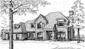 House Plan 98541 | European Style Plan with 2508 Sq Ft, 4 Bedrooms, 4 Bathrooms Elevation