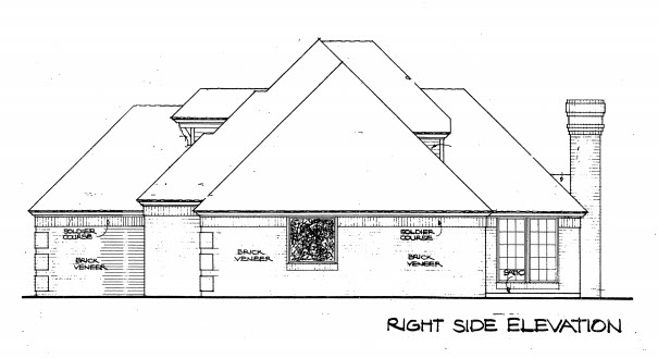 European House Plan 98543 with 4 Beds, 3 Baths Picture 1