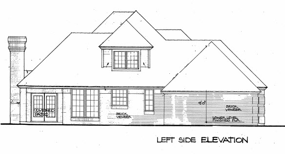 European House Plan 98543 with 4 Beds, 3 Baths Picture 2