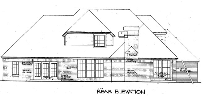 European House Plan 98543 Rear Elevation