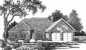 European House Plan 98544 Elevation