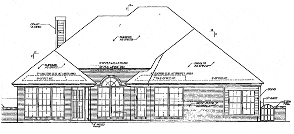 Country Ranch House Plan 98545 Rear Elevation