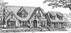 Tudor House Plan 98546 with 4 Beds, 4 Baths, 2 Car Garage Elevation