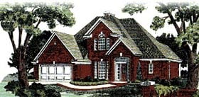 European House Plan 98551 with 4 Beds, 3 Baths Elevation