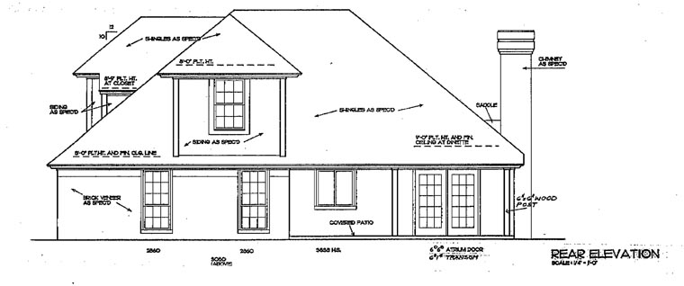 European House Plan 98552 Rear Elevation
