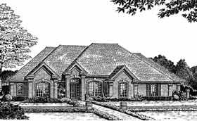 House Plan 98554 Elevation
