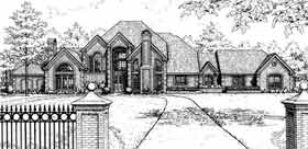 French Country, Tudor House Plan 98563 with 4 Beds, 5 Baths, 3 Car Garage Elevation