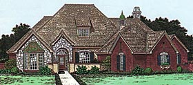 Tudor , European House Plan 98569 with 4 Beds, 4 Baths, 3 Car Garage Elevation