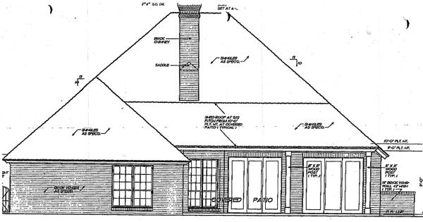 European House Plan 98572 Rear Elevation