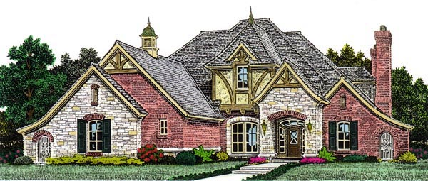 Country European House Plan 98573 Elevation