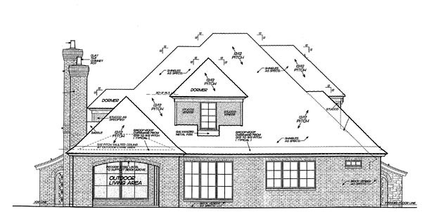 Country European House Plan 98573 Rear Elevation