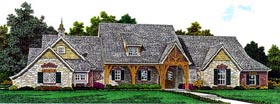Traditional House Plan 98574 with 3 Beds, 3 Baths, 4 Car Garage Elevation