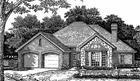House Plan 98575 | European Style House Plan with 1917 Sq Ft, 4 Bed, 2 Bath, 2 Car Garage Elevation