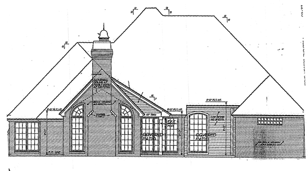 European Victorian House Plan 98576 Rear Elevation