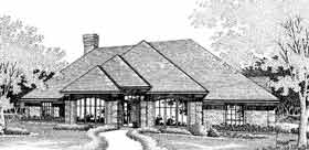 House Plan 98577   European Style Plan with 2353 Sq Ft, 3 Bedrooms, 3 Bathrooms, 3 Car Garage Elevation