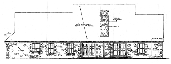 Country House Plan 98583 Rear Elevation