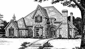 European French Country Tudor House Plan 98586 Elevation