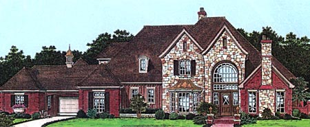 European French Country Tudor House Plan 98587 Elevation