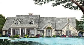 Bungalow , Country House Plan 98589 with 3 Beds, 3 Baths, 3 Car Garage Elevation