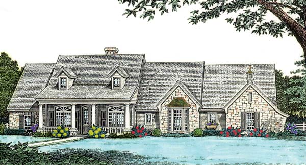 Bungalow Country House Plan 98589 Elevation