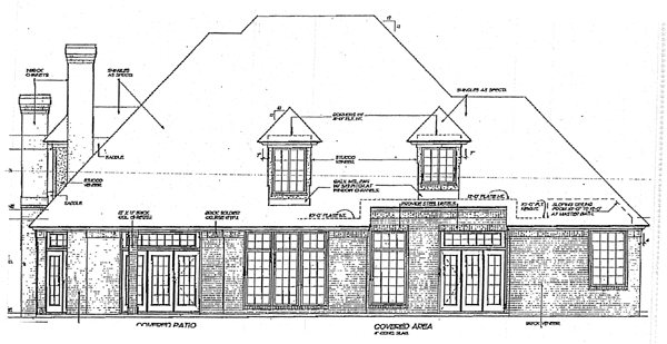 European French Country House Plan 98596 Rear Elevation