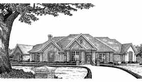 Traditional House Plan 98598 with 3 Beds, 3 Baths, 3 Car Garage Front Elevation