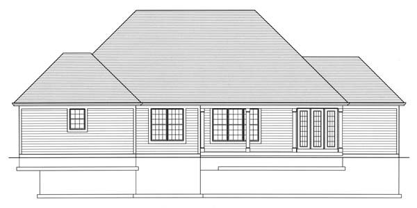 Craftsman House Plan 98600 Rear Elevation