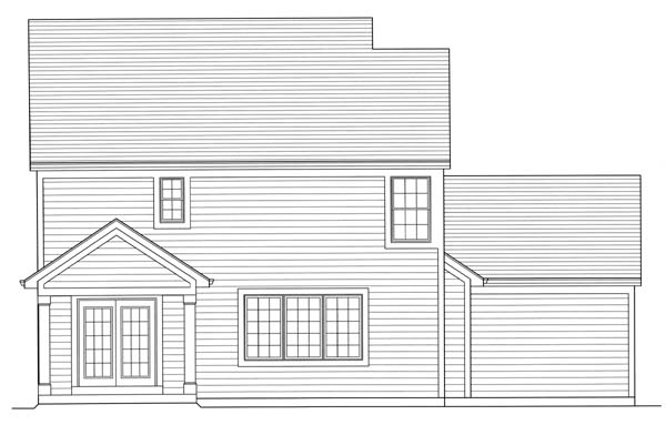 Country Craftsman House Plan 98601 Rear Elevation