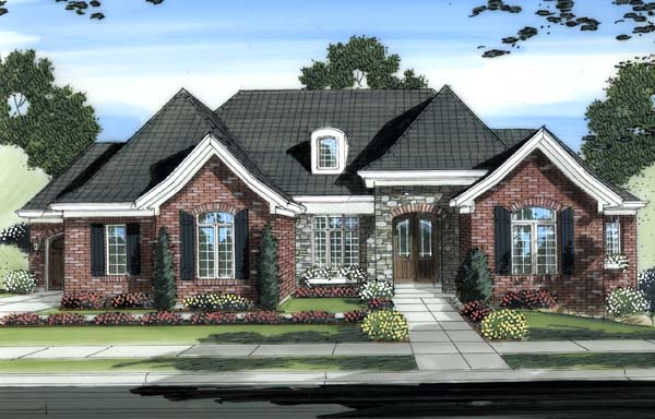 Traditional House Plan 98607 Elevation