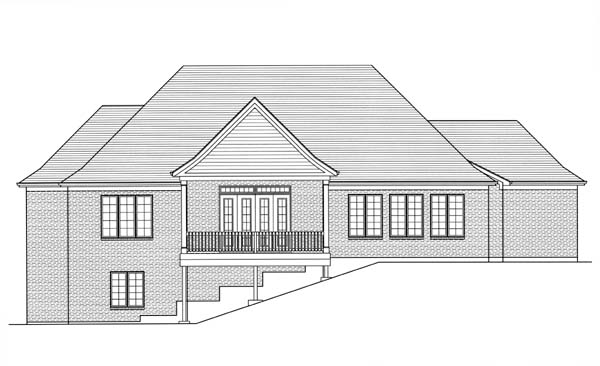 Traditional House Plan 98607 Rear Elevation