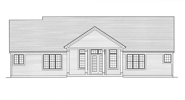 Colonial Country House Plan 98608 Rear Elevation