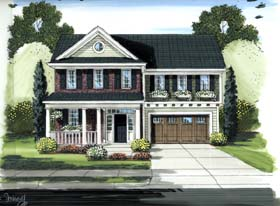 Colonial Country House Plan 98609 Elevation