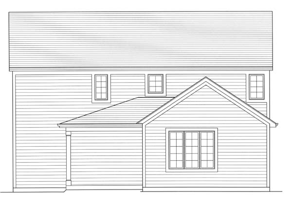 Colonial Country House Plan 98609 Rear Elevation