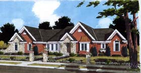 House Plan 98612 | Traditional Style Plan with 1759 Sq Ft, 3 Bedrooms, 2 Bathrooms, 2 Car Garage Elevation