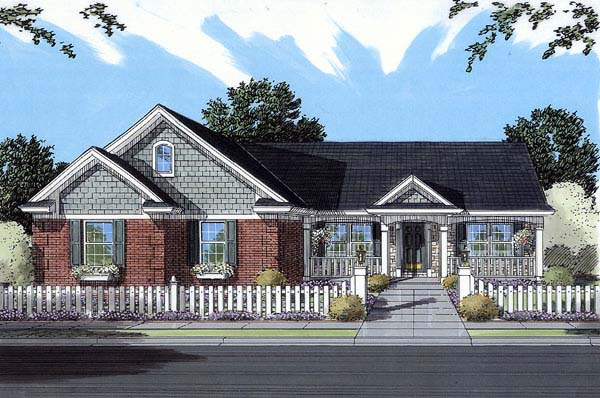Ranch House Plan 98613 Elevation