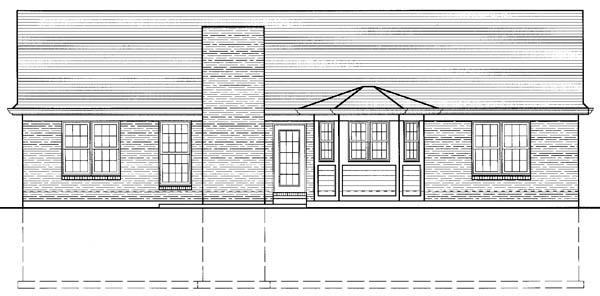Ranch House Plan 98613 Rear Elevation