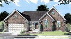 House Plan 98614 | Traditional Style Plan with 2078 Sq Ft, 3 Bedrooms, 2 Bathrooms, 2 Car Garage Elevation