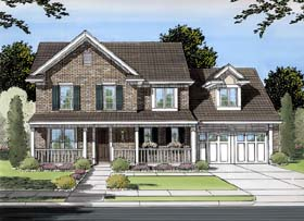 Country Traditional House Plan 98615 Elevation