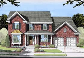 Traditional House Plan 98616 Elevation