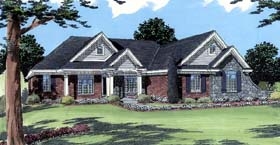 House Plan 98618 | Traditional Style House Plan with 3305 Sq Ft, 4 Bed, 3 Bath, 2 Car Garage Elevation