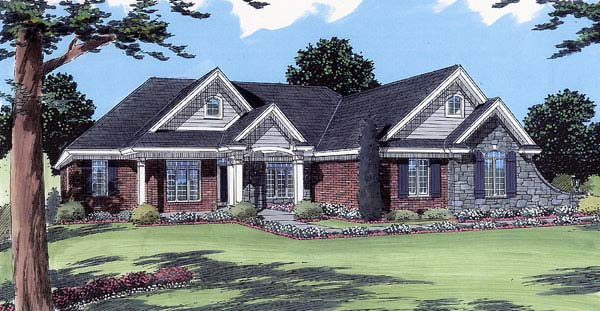 Traditional House Plan 98618 Elevation