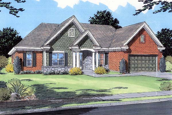 Traditional House Plan 98619 Elevation