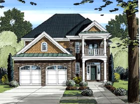 House Plan 98620 Elevation