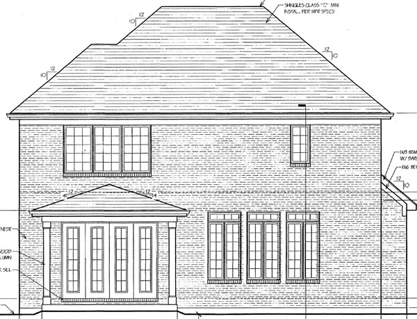 House Plan 98620 Rear Elevation