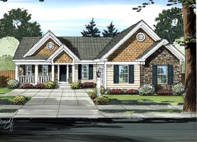 Ranch House Plan 98623 Elevation