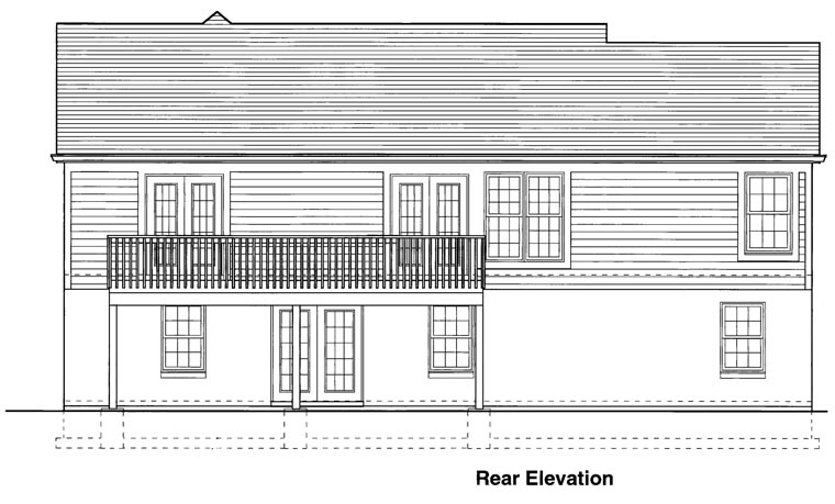 Ranch House Plan 98623 Rear Elevation