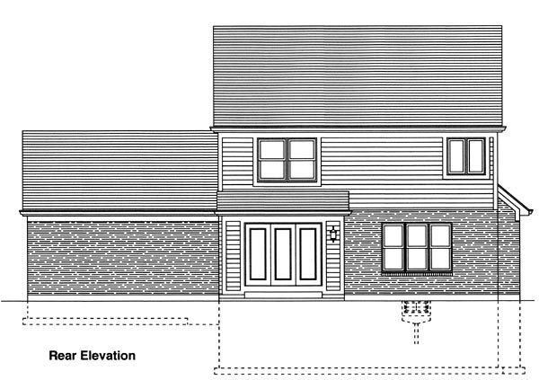 Traditional House Plan 98624 Rear Elevation
